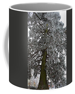 Coffee Mug featuring the photograph Frozen Tree 2 by Felicia Tica