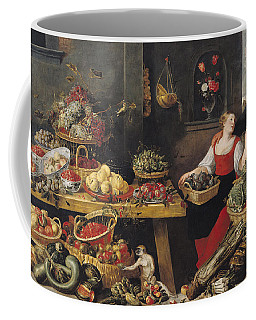 Fruit And Vegetable Market Oil On Canvas Coffee Mug
