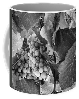 Fruit -grapes In Black And White - Luther Fine Art Coffee Mug