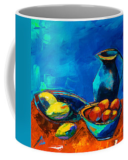 Coffee Mug featuring the painting Fruit Palette by Elise Palmigiani