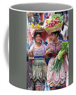 Fruit Sellers In Antigua Guatemala Coffee Mug by David Smith