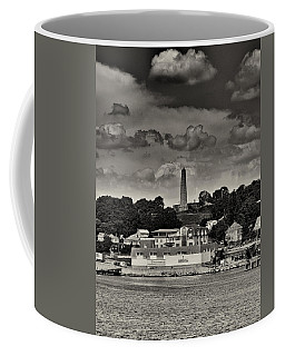 Ft Griswald Monument Black And White Coffee Mug