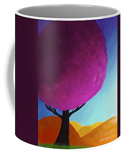 Coffee Mug featuring the painting Fuchsia Tree by Anita Lewis