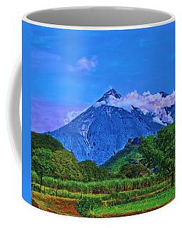 Coffee Mug featuring the painting Fuego Volcano Guatamala by Deborah Boyd