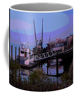 Coffee Mug featuring the painting Old Brunswick Fuel Dock by Laura Ragland