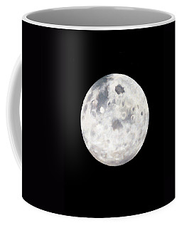 Full Moon In Black Night Coffee Mug