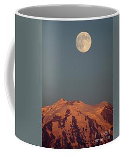 Full Moon Over Mount Rainier Coffee Mug