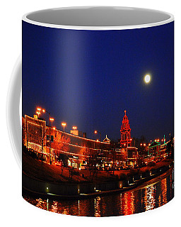 Full Moon Over Plaza Lights In Kansas City Coffee Mug by Catherine Sherman