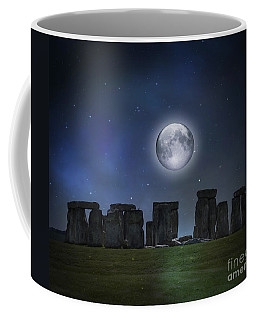 Full Moon Over Stonehenge Coffee Mug