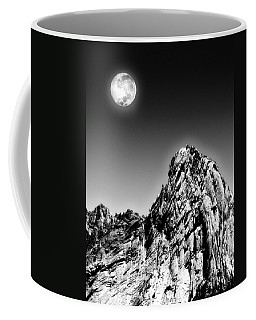 Full Moon Over The Suicide Rock Coffee Mug