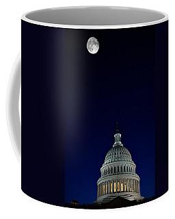 Full Moon Over Us Capitol Coffee Mug