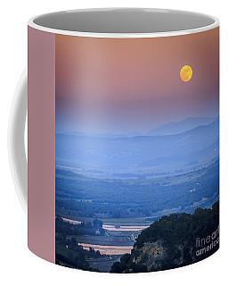 Full Moon Over Vejer Cadiz Spain Coffee Mug