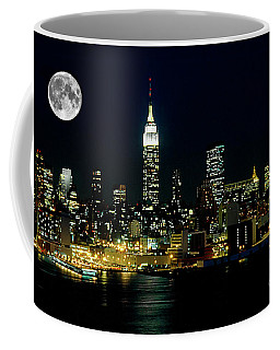 Full Moon Rising - New York City Coffee Mug
