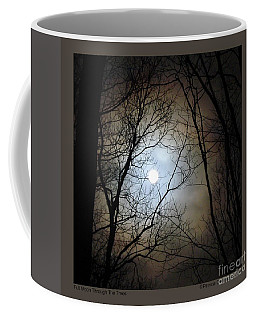 Full Moon Through The Trees Coffee Mug
