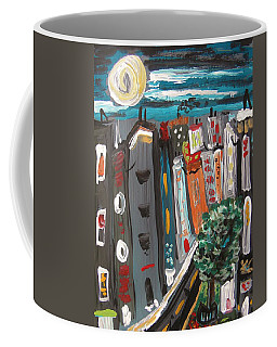 Full Moon-wind In The Tree Coffee Mug by Mary Carol Williams