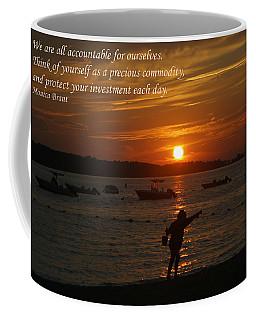 Fun At Sunset/ Inspirational Coffee Mug by Karen Silvestri
