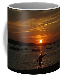Fun At Sunset Coffee Mug by Karen Silvestri
