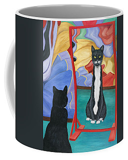 Fun House Skinny Cat Coffee Mug
