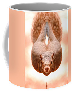 Flying Funky Brown Squirrel Coffee Mug