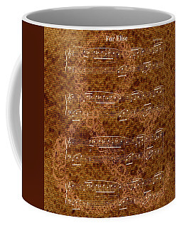 Fur Elise Music 2 Digital Painting Coffee Mug