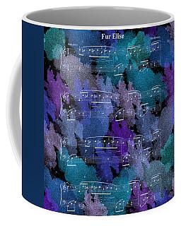 Fur Elise Music Digital Painting Coffee Mug