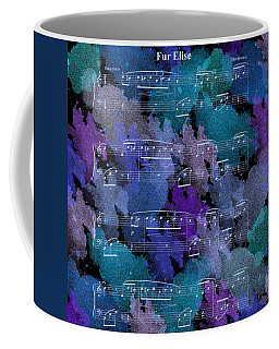 Fur Elise Music Digital Painting Coffee Mug