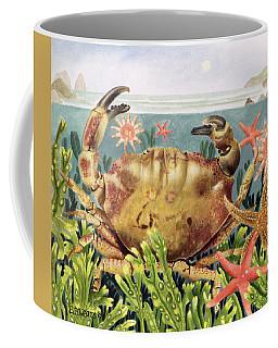 Furrowed Crab With Starfish Underwater Coffee Mug