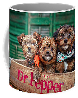 Furry Trio Coffee Mug by Sennie Pierson