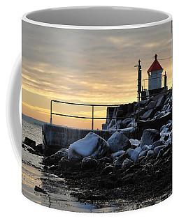 Coffee Mug featuring the photograph Fyllinga Lighthouse by Randi Grace Nilsberg