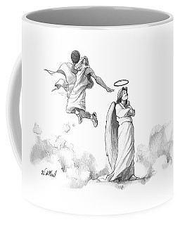 G-d Slam Dunks On An Angel's Halo Coffee Mug