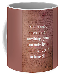 Galileo Quote Science Astronomy Math Physics Inspirational Words On Canvas Coffee Mug