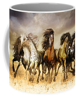 Galloping Horses Full Color Coffee Mug