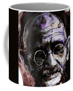 Coffee Mug featuring the painting Gandhi by Laur Iduc