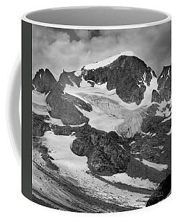 509427-bw-gannett Peak And Gooseneck Glacier, Wind Rivers Coffee Mug