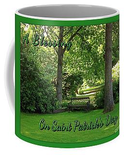 Garden Bench On Saint Patrick's Day Coffee Mug