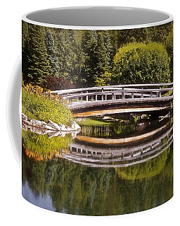 Garden Bridge Coffee Mug by Linda Bianic