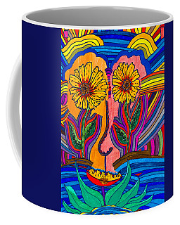 Garden Face - Lotus Pond - Daisy Eyes Coffee Mug