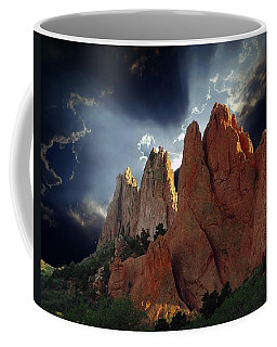 Garden Megaliths With Dramatic Sky Coffee Mug