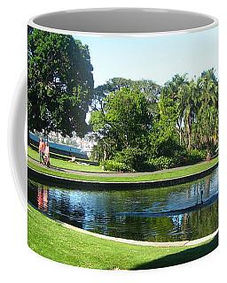 Coffee Mug featuring the photograph Sydney Botanical Garden Lake by Leanne Seymour