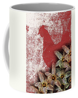 Garden Rooster Coffee Mug by Lesa Fine