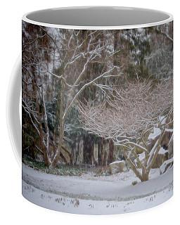 Garden Scene During Winter Snow At Sayen Gardens 2 Coffee Mug