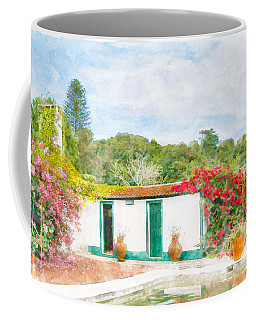Garden Watercolor Painting Coffee Mug