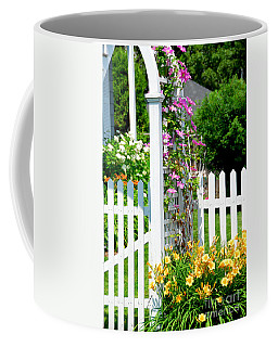 Garden With Picket Fence Coffee Mug