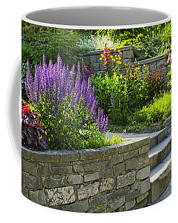 Garden With Stone Landscaping Coffee Mug