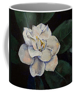 Gardenia Oil Painting Coffee Mug