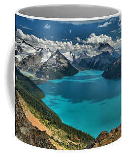 Garibaldi Lake Blues Greens And Mountains Coffee Mug