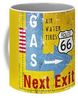Gas Next Exit- Route 66 Coffee Mug