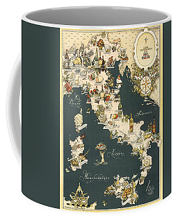 Gastronomic Map Of Italy 1949 Coffee Mug