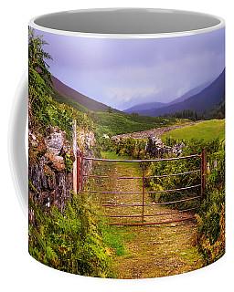 Gates On The Road. Wicklow Hills. Ireland Coffee Mug
