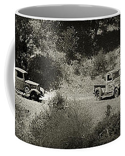 Gathering Black And White Coffee Mug